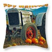 Happy Halloween Card Throw Pillow