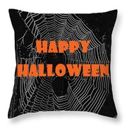 Happy Halloween Web  Throw Pillow