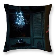 Happy Holiday Lights Throw Pillow