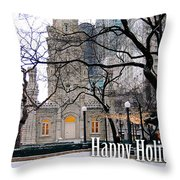Happy Holidays From Chicago Throw Pillow