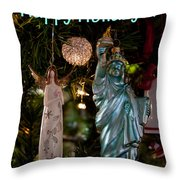 Happy Holidays To All My Friends On Fine Art America Throw Pillow