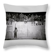 Freedom At The Berlin Wall Throw Pillow