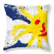 Happy Sun Face Throw Pillow