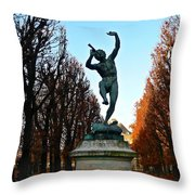 Happy To Be In Paris Throw Pillow