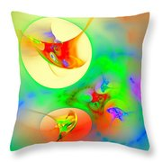 Happyness Throw Pillow