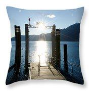 Harbor And Sun Throw Pillow