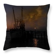Harbor At Dusk Throw Pillow
