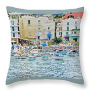 Harbor At Isle Of Capri Throw Pillow