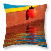 Harbor Colors Throw Pillow