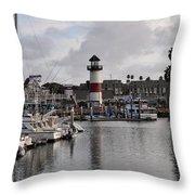 Harbor Lighthouse Throw Pillow