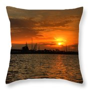 Harbor Sunrise Throw Pillow