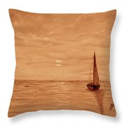 Harbor Sunset Throw Pillow