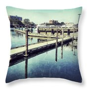 Harbor Time Throw Pillow