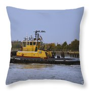 Harbor Tug Savannah Throw Pillow