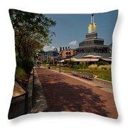 Harbor Walk Throw Pillow