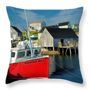 Harbour Mist In Peggy's Cove No 103 Throw Pillow