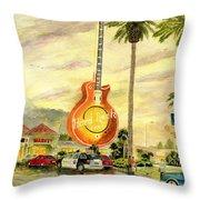 Hard Rock Cafe Las Vegas Throw Pillow