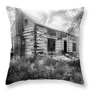 Hardscrabble Cabin, C1890 Throw Pillow