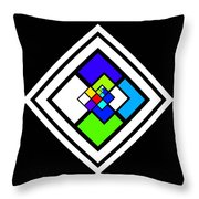 Harlequin Tile Throw Pillow
