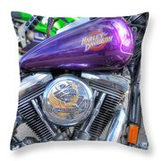 Harley Davidson 3 Throw Pillow