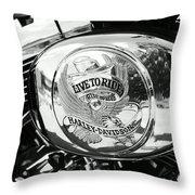 Harley Davidson Bike - Chrome Parts 22 Throw Pillow