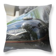 Harley Davidson Emblem Throw Pillow