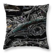 Harley Davidson Style 2 Throw Pillow