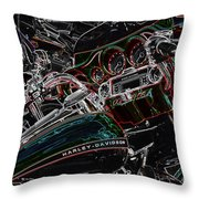 Harley Davidson Style 4 Throw Pillow