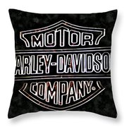 Harley Sign Throw Pillow