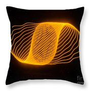 Harmonograph Phase Pattern Throw Pillow