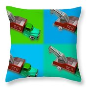 Harmony In Green Throw Pillow