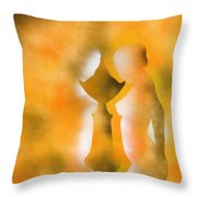 Harmony Of Three Throw Pillow
