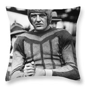 Harold (red) Grange Throw Pillow