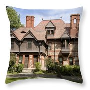 Harriet Beacher Stowe Home Throw Pillow