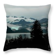 Harriman Glacier Throw Pillow