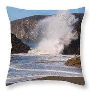 Harris Beach Sprayed Throw Pillow
