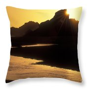Harris Beach Sunset Throw Pillow