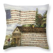 Harrisons Log Cabin March Throw Pillow