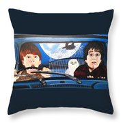 Harry And Ron Throw Pillow