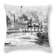 Hartford, 1853 Throw Pillow