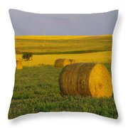 Harvest In Montana Throw Pillow
