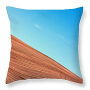 Harvested Crop Lines And Clear Skies Throw Pillow