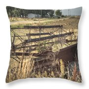 Harvester Sweep Wheel 1 Throw Pillow