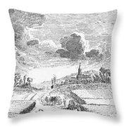 Harvesting, 18th Century Throw Pillow