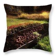 Harvesting The Crop Throw Pillow