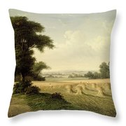 Harvesting Throw Pillow by Walter Williams