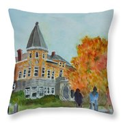 Haskell Free Library In Autumn Throw Pillow