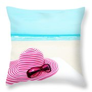 Hat And Sunglasses Throw Pillow