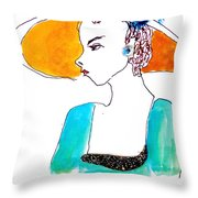 Hat Lady 15 Throw Pillow
