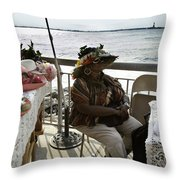 Hat Woman Throw Pillow